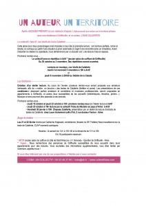flyer simple verso Les Veufs  de Calaferte